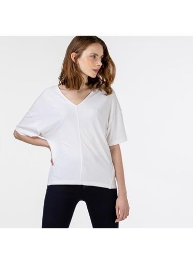 Lacoste Kadın Kısa Kollu Bluz QF0107.07B Beyaz